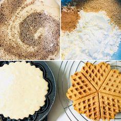 Τραγανές βάφλες χωρίς γλουτένη & βίγκαν! – Gfhappy Waffles, Gluten Free, Vegan, Breakfast, How To Make, Food, Recipes, Chef Recipes, Cooking