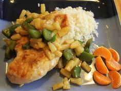 Tropical chicken dinner on a budget.