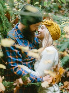 An autumn engagement session with fall foliage in Forest Park, Portland, Oregon.