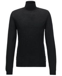 Boss Men's Turtleneck Sweater - Black M