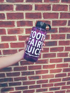 Purple tooth fairy juice.
