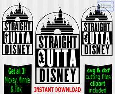 3 SVG Designs, Straight Outta Disney svg files, Straight Outta Disney clipart, disney svg files, disney vector, dxf, disney cuttable file by 5MonkeysClipart on Etsy https://www.etsy.com/listing/274610284/3-svg-designs-straight-outta-disney-svg