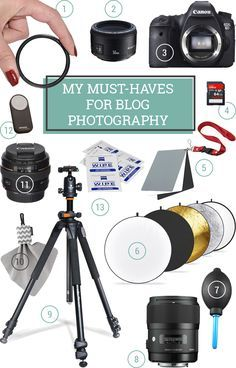12 Must-Have Essential Photography Supplies - This is a great list of gear, tools, and tips for beginner photographers; bloggers, or anyone learning to use a DSLR! Includes lots of tutorials, too! #blog