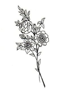 3 flowers/petals - one for each of my siblings and I Girly Tattoos, Pretty Tattoos, Rose Tattoos, Flower Tattoos, Small Tattoos, Tatoos, Ivy Tattoo, Awesome Tattoos, Simple Tattoo Designs