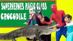 Learn Animal with Giant Crocodile in Superheroes Magic Class! Crocodile ...