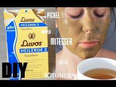 DIY Heilerde | Maske gegen Mitesser Pickel Papeln Akne - YouTube
