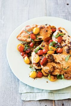 Sauteed Chicken Breasts with Warm Tomato Salad
