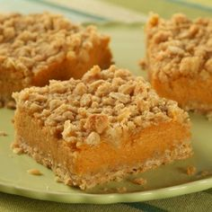 Pumpkin Cream Cheese Struesel Squares