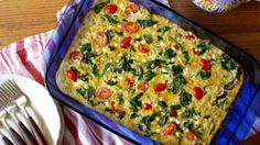 21 Day Fix Approved Spinach, Tomato, and Quinoa Breakfast Casserole (1 Green, 1 Red, 1 Yellow)  // 21 Day Fix // // fitness // fitspo // workout // motivation // exercise // Meal Prep // diet // nutrition // Inspiration // fitfood // fitfam // clean eating // recipe // recipes