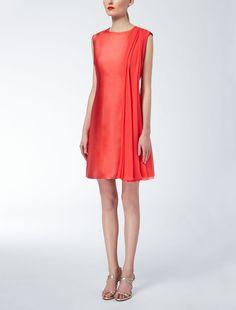 Max Mara DESTINO coral: Silk mikado dress.