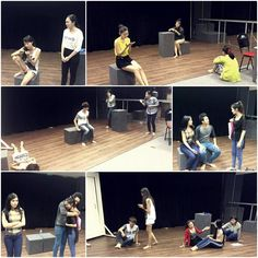 Hình ảnh tập luyện của các bạn lớp diễn xuất tại SIFS!!!
