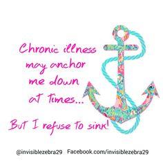Refuse to sink  Life with Rheumatoid Arthritis, Auto-Immune Disease, Fibromyalgia/Chronic Illness, Pulmonary Sarcoidosis, Hyperaldosteronism. #spoonie