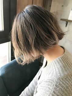 Korean Short Hair, Short Hair Cuts, Short Hair Styles, Hair Streaks, Hair Highlights, Cut My Hair, Love Hair, Short Bob Hairstyles, Pretty Hairstyles