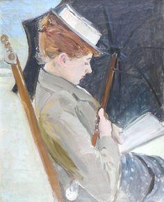 Madame Helleu Lisant sur la Plage, Paul Helleu, 1896