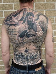 50 Jesus Tattoos for the Faith, Love, Sacrifices and Strength Hello! Here we have nice wallpaper about jesus tattoo designs on back. Weird Tattoos, Great Tattoos, Beautiful Tattoos, Body Art Tattoos, Tatoos, Jesus Tattoo Design, Design Tattoo, Tattoo Designs Men, Back Tattoos For Guys