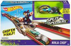 Hot Wheels Split Speeders Ninja Chop Track Set Vehicle - Free Shipping
