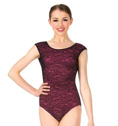 533951e8abbc So Danca Womens Lace Overlay Short Sleeve Leotard Lace Leotard, Gorgeous  Fabrics, Lace Overlay