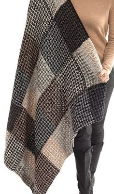 Free Knitting Pattern for Slipped Stitch Checks Afghan