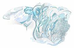 yasuko aoyama print works (月と人魚 moon and mermaid Eraser. Japan Design, Calligraphy Art, Botanical Illustration, Printmaking, Storytelling, Graphic Design, Wallpaper, Artwork, Artist