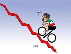 Il nostro buon Renzi, che malamente imita #VincenzoNibali (e non ci riuscirà).