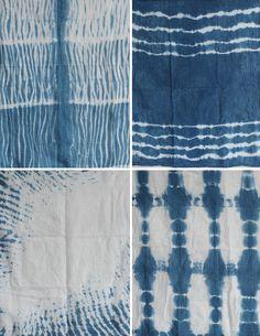 DIY Indigo Dye Series –Shibori Dish Towels - Different techniques!