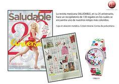 Revista Saludable #Mexico. #Reloj #Color #Flores