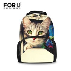 FORUDESIGNS Big Bags for Women 2017 Kawaii Animal Cat Printing School Backpacks for Teenage Girls Female Large Travel Backpack. Yesterday's price: US $40.99 (33.57 EUR). Today's price: US $25.41 (20.90 EUR). Discount: 38%.