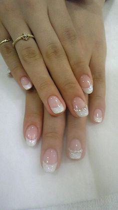 Special manicure day 39 Manucure spéciale jour j 39 - Nail Designs French Nails, French Manicure Nails, French Pedicure, Manicure And Pedicure, My Nails, Bridal Nails French, Bridal Pedicure, White Tip Nails, French Wedding