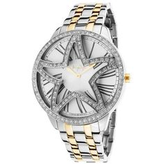 Thierry Mugler Women's Two-Tone Stainless Steel Silver-Tone dial for only $75 You save: $284.00 (79%)