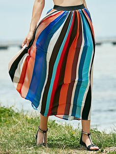 Long Boho Skirt COLORMIX: Skirts | ZAFUL