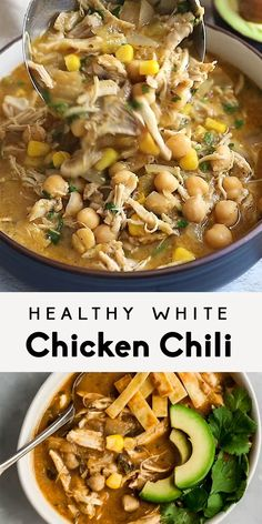 Easy Healthy Dinners, Vegan Dinners, Healthy Dinner Recipes, Breakfast Recipes, Vegetarian Recipes, Beef Soup Recipes, Chicken Recipes, Healthy White Chicken Chili, Stuffed Peppers