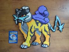 A new project, the legendary dogs! Here's Raikou!  PokePerlers Etsy