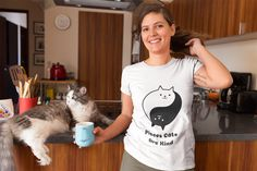 Do not miss this Tee and mask if you are a Piscean Cat lover. Or gift it to your Piscean cat lover. Cat Shirts, Funny Shirts, Cat Lover Gifts, Cat Lovers, Lovers Gift, Llama Shirt, Cat Sweatshirt, Textiles, Novelty Shirts