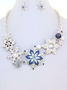 Blue & Silver Snowflake N... - Hair 2 Heels | Scott's Marketplace