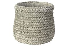 """One Kings Lane - No Yard Necessary - 7"""" Woven Cement Planter"""
