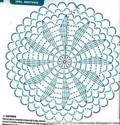 Crochet Decora & Veste: Blouse with Graphic # 5 Baby Afghan Crochet Patterns, Crochet Mandala Pattern, Crochet Beanie Pattern, Crochet Circles, Crochet Flower Patterns, Crochet Diagram, Crochet Squares, Crochet Diy, Crochet Round