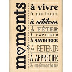 Tampon moments a celebrer French Words, French Quotes, Tampon Scrapbooking, Mini Albums Scrap, E Mc2, Rockabilly Pin Up, Empowerment Quotes, Messages, Tampons