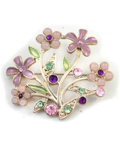 Branch and Flower Brooch