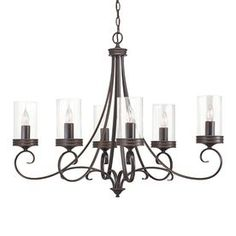 Kichler Lighting Diana 6-Light Olde Bronze Hardwired Standard Chandelier