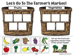 FREE Printable Farmer's Market Fruit and Vegetable Sorting Worksheet! Sorting worksheets like this are great for preschoolers and kindergartners to learn what foods are fruits and which are veggies. Get the free sorting worksheet here --> https://www.mpmschoolsupplies.com/ideas/7943/free-printable-fruits-and-vegetables-sorting-worksheet/