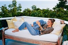"At home with Miranda Kerr: Kerr likes to make sure her house is in order — literally and figuratively. ""I've had the house feng-shuied, I've had it blessed, I've had it doused, I've had it checked for electromagnetic fields, I 'sage' all the time,"" she confides with a smile, kicking back in a hammock on the deck of her light-filled three-bedroom Malibu home."