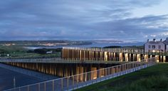 New visitor centre at Giant's Causeway in Northern Ireland reflects the landscape of stepped stones that make this a world heritage site. Also shortlisted for Stirling Award in 2013. Lovely.