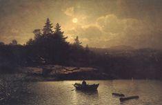 Sophus Jacobsen~ Fishing by Moonlight.