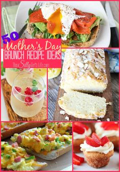50 Mother's Day Brunch Recipe Ideas {The Weekly Round UP} - This Silly Girl's Life ~ Enjoy! Brunch Recipes, Healthy Dinner Recipes, My Recipes, Appetizer Recipes, Breakfast Recipes, Favorite Recipes, Brunch Ideas, Fathers Day Brunch, Mothers Day Breakfast