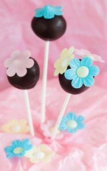 Cakepops met glittersuiker