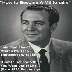 The Audio Book: How To Become A Millionaire by John Earl Shoaff