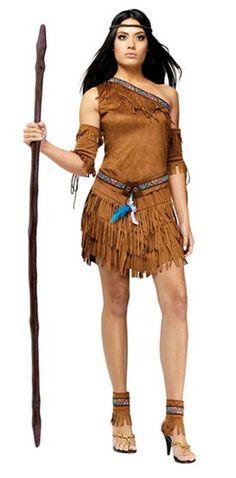 Sexy Womens Pocahontas Native American Indian Cosplay Costume(China (Mainland))