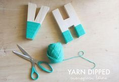 Un DIY para decorar con lana cualquier letra