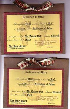 Jesus Birth Certificate
