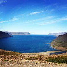 The view over Suðurfirðir westfjords, Iceland